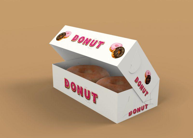 Open Donut Mockup PSD
