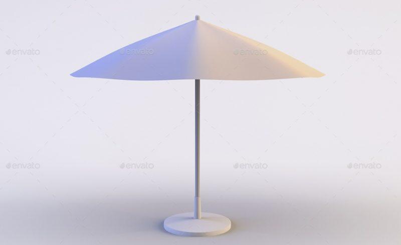 Outdoor Umbrella Mockup PSD