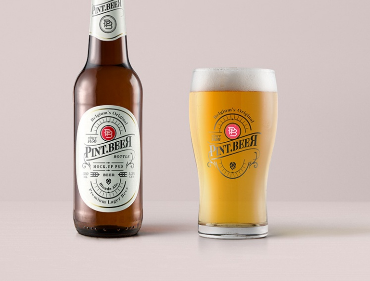 PSD Beer Branding Mockup