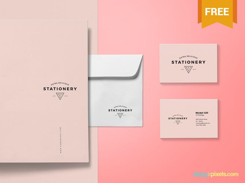 PSD Branding Envelope Mockup