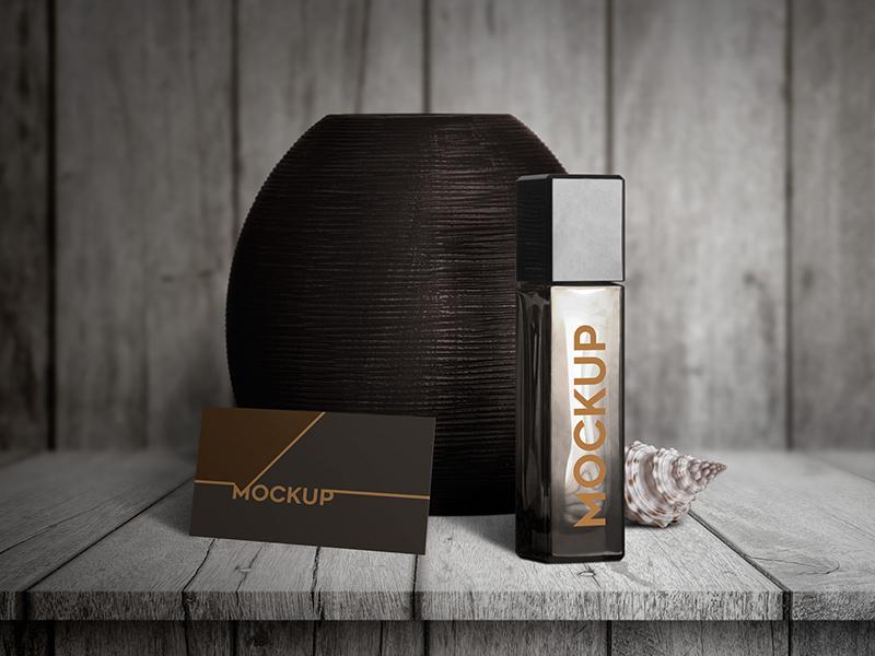 PSD Perfume Mockup Design