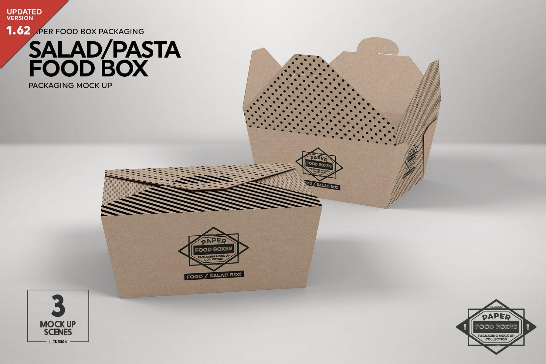Pasta Food Box Mockup