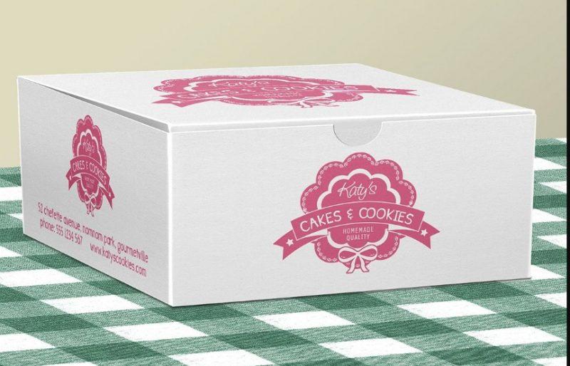 Pastry Box Packaging Mockup
