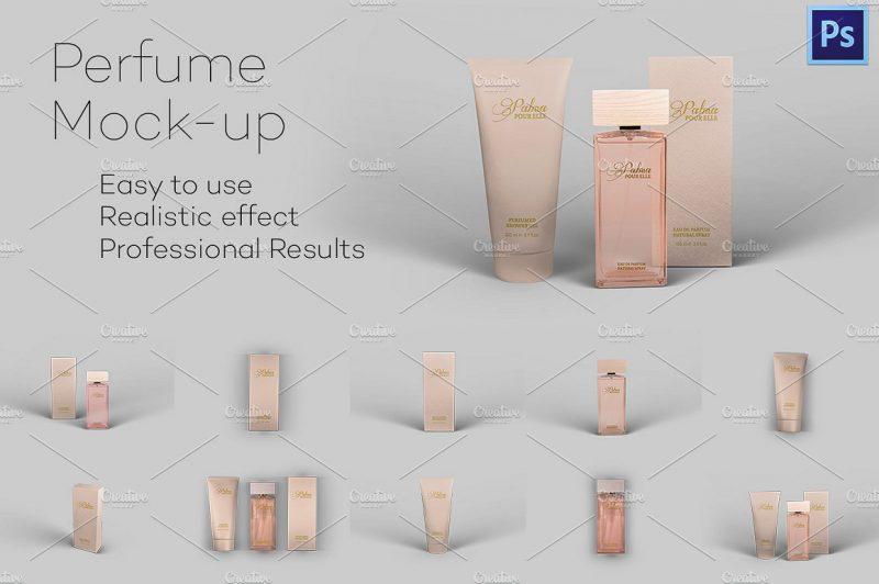 Perfume Branding Mockup PSD