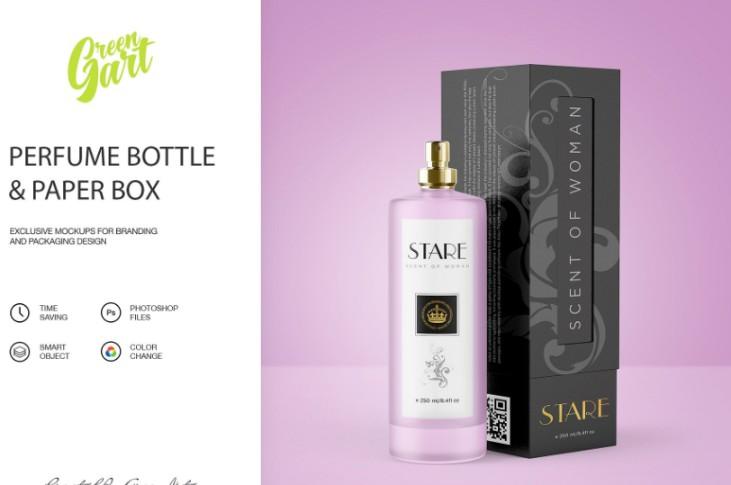 Perfume Packaging Mockup PSD