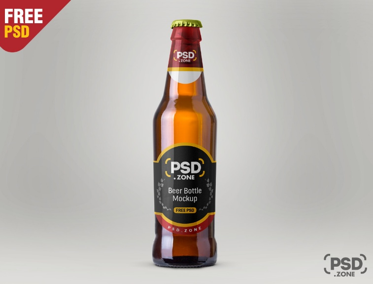 Photo Realistic Beer Bottle Mockup