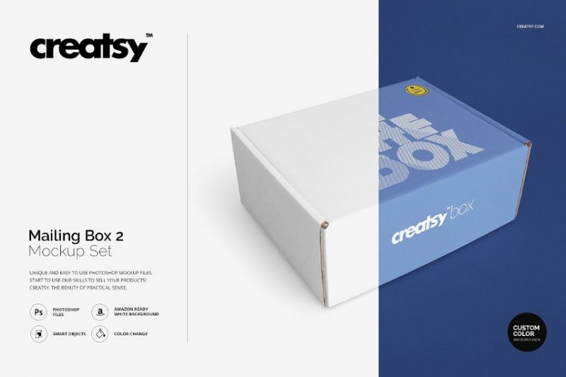 Photo Realistic Mailing Box Mockup