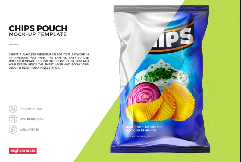 Photo Realistic Snack Pouch Mockup