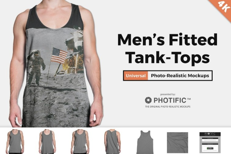 Photo Realistic Tank Top Mockup PSD
