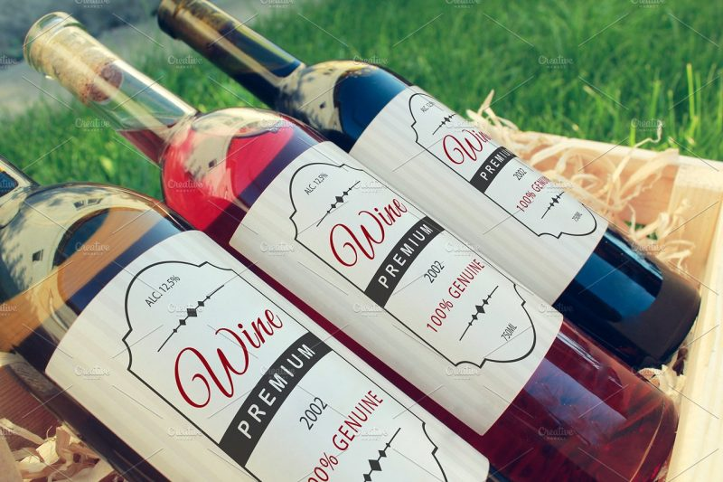 Photo Realistic Wine Bottle Mockup