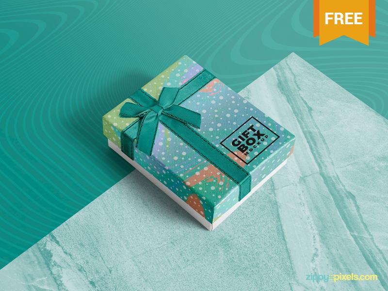 Photorealistic Gift Box Mockup
