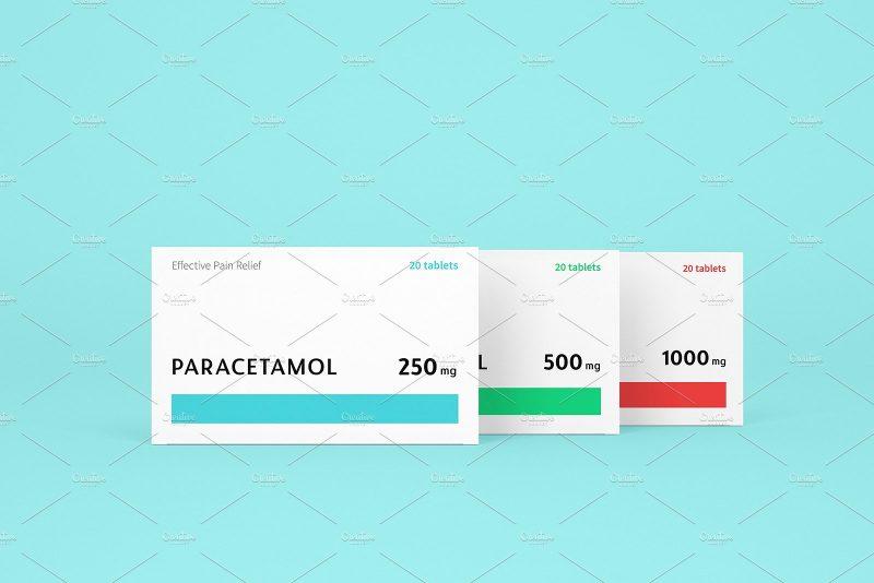 Pills Boxes Mockup PSD