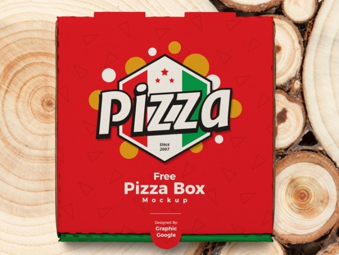 Pizza Box Packaging Mockup