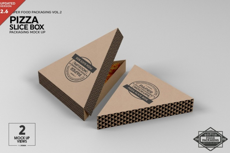 Pizza Slice Packaging Mockup PSD