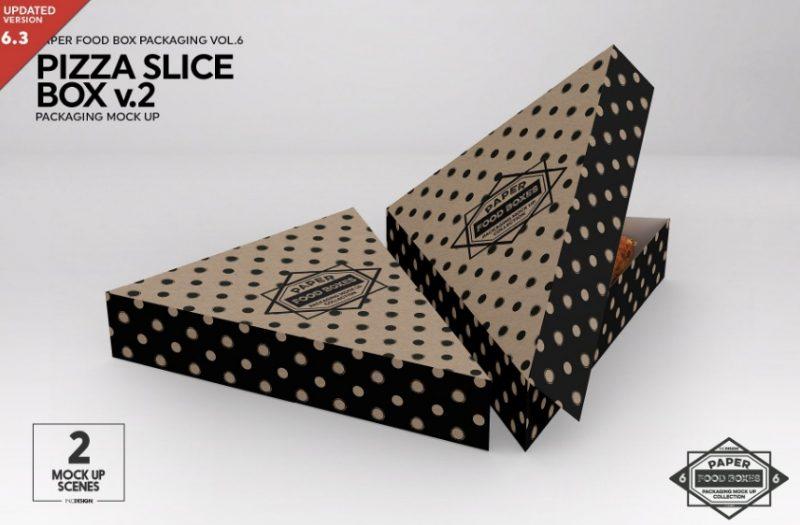 Pizza Slice Packaging Mockup