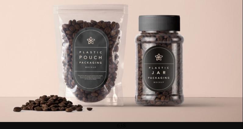 Plastic Coffee Packaging Mockup Free