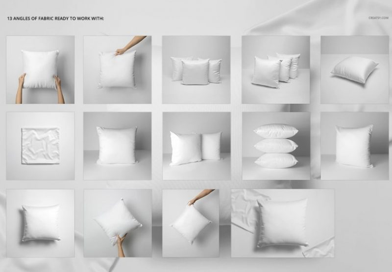 Polyster Pillow Mockup PSD