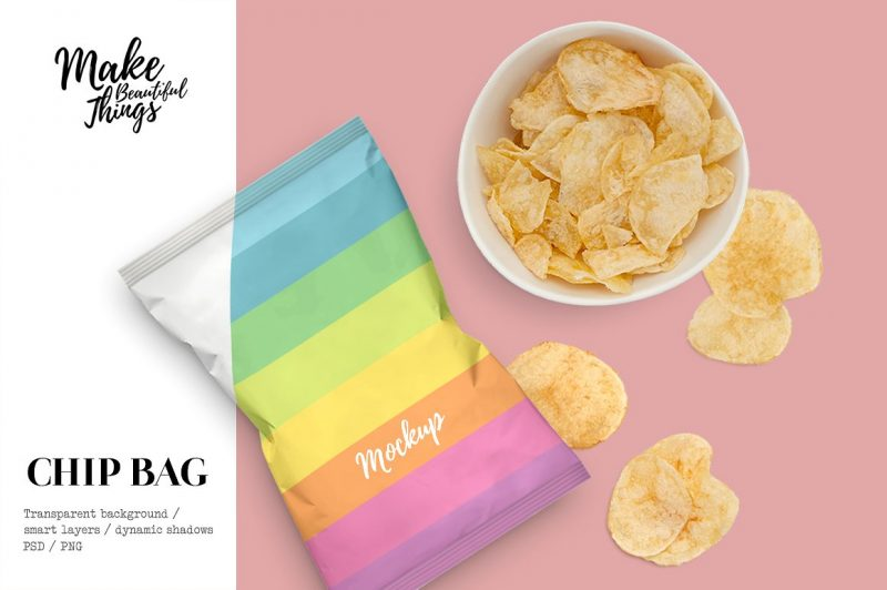 Potato Chips Bag Mockup