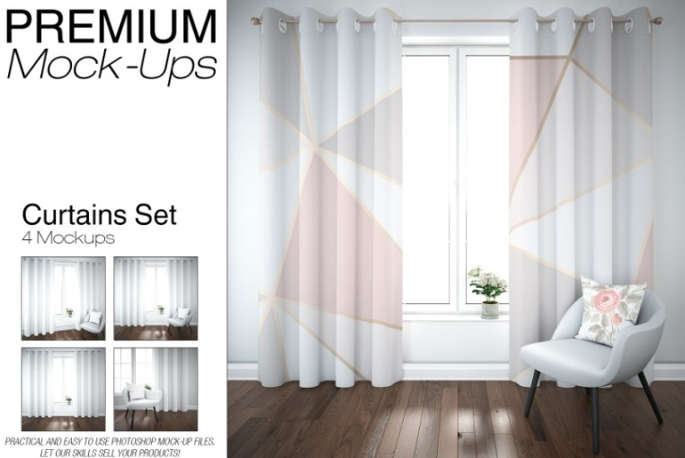 Professional Curtain Mockup Set