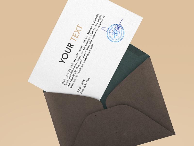 Professional Envelope Mockup PSD