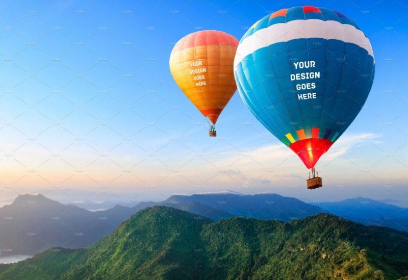 Professional Hot Air Balloon Mockup