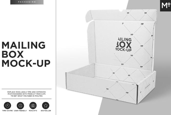 Professional Mailing Box Mockup