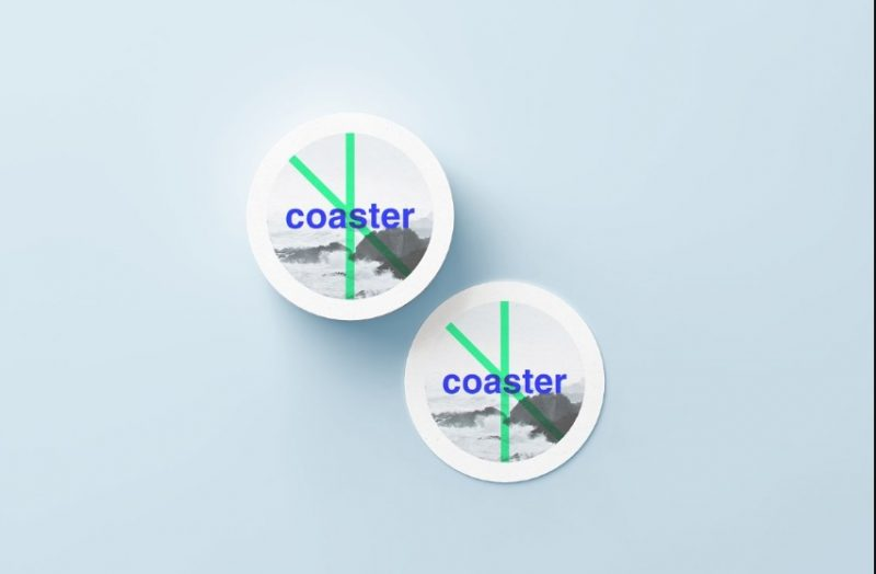 Professional Round Coaster Mockup PSD