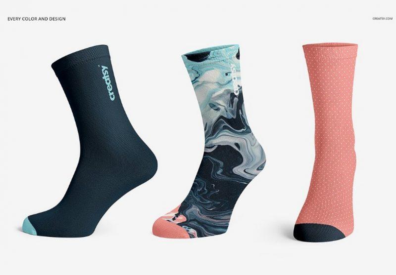 Professional Socks Mockup PSD