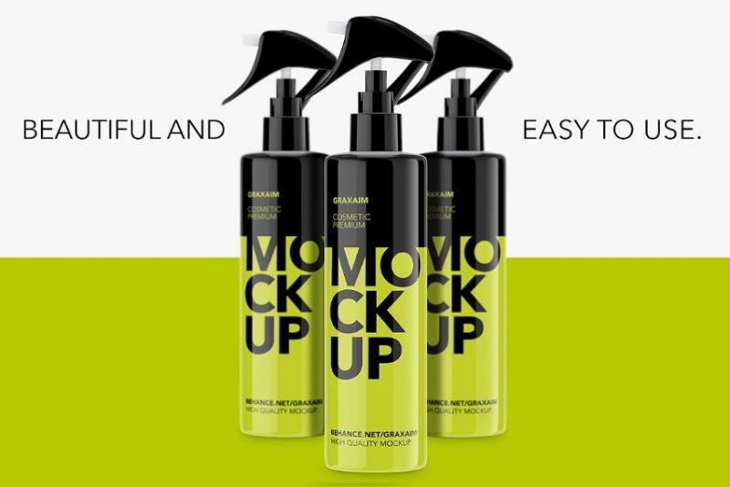 Pump Spray Mockup PSD