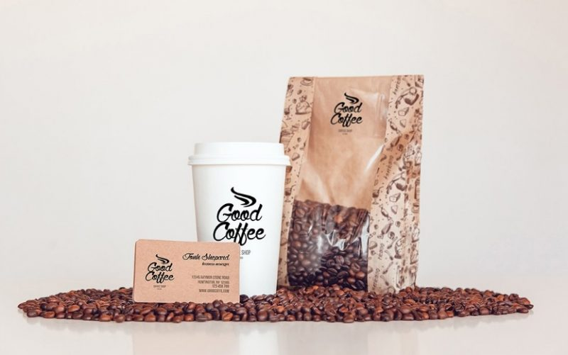Realistic Coffee Branding Mockup