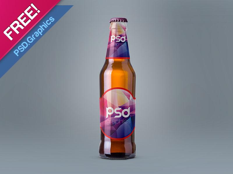 Realistic Beer Label Mockup