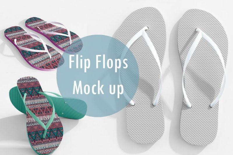 Realistic Flip Flop Mockup PSD