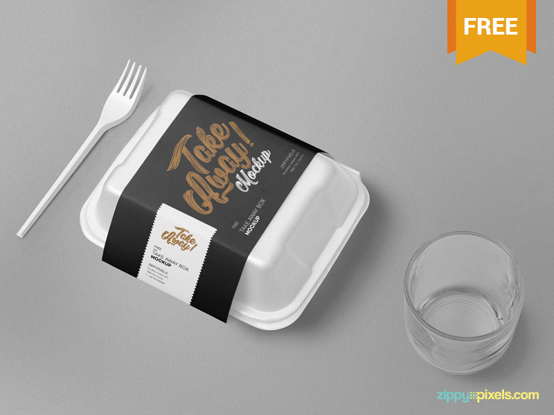 Realistic Food Box Mockup