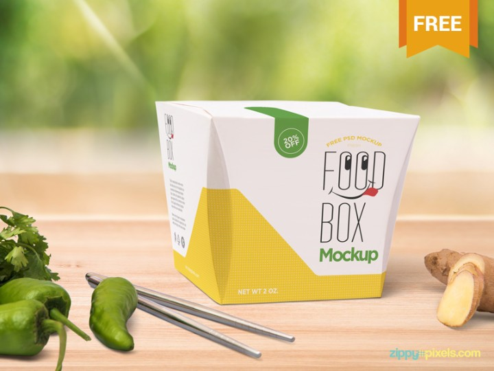 Realistic Lunch Box Mockup PSD