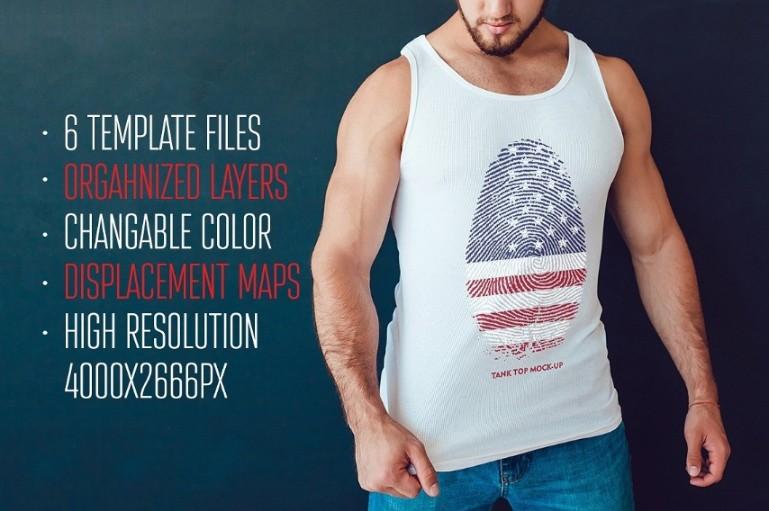 Editable Tank Top Mockup