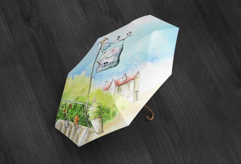 Realistic Umbrella Mockup PSD