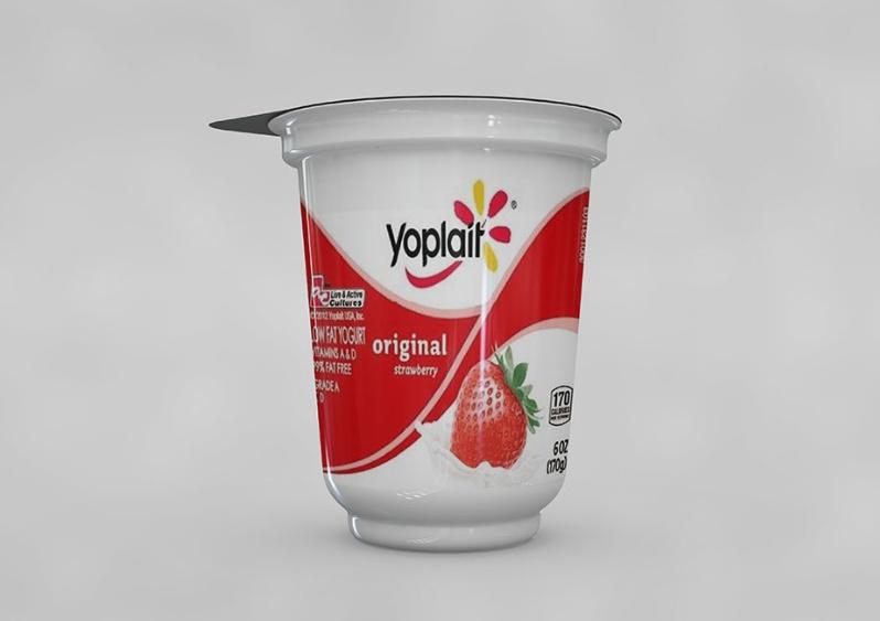 Realistic Yogurt Mockup Free Download