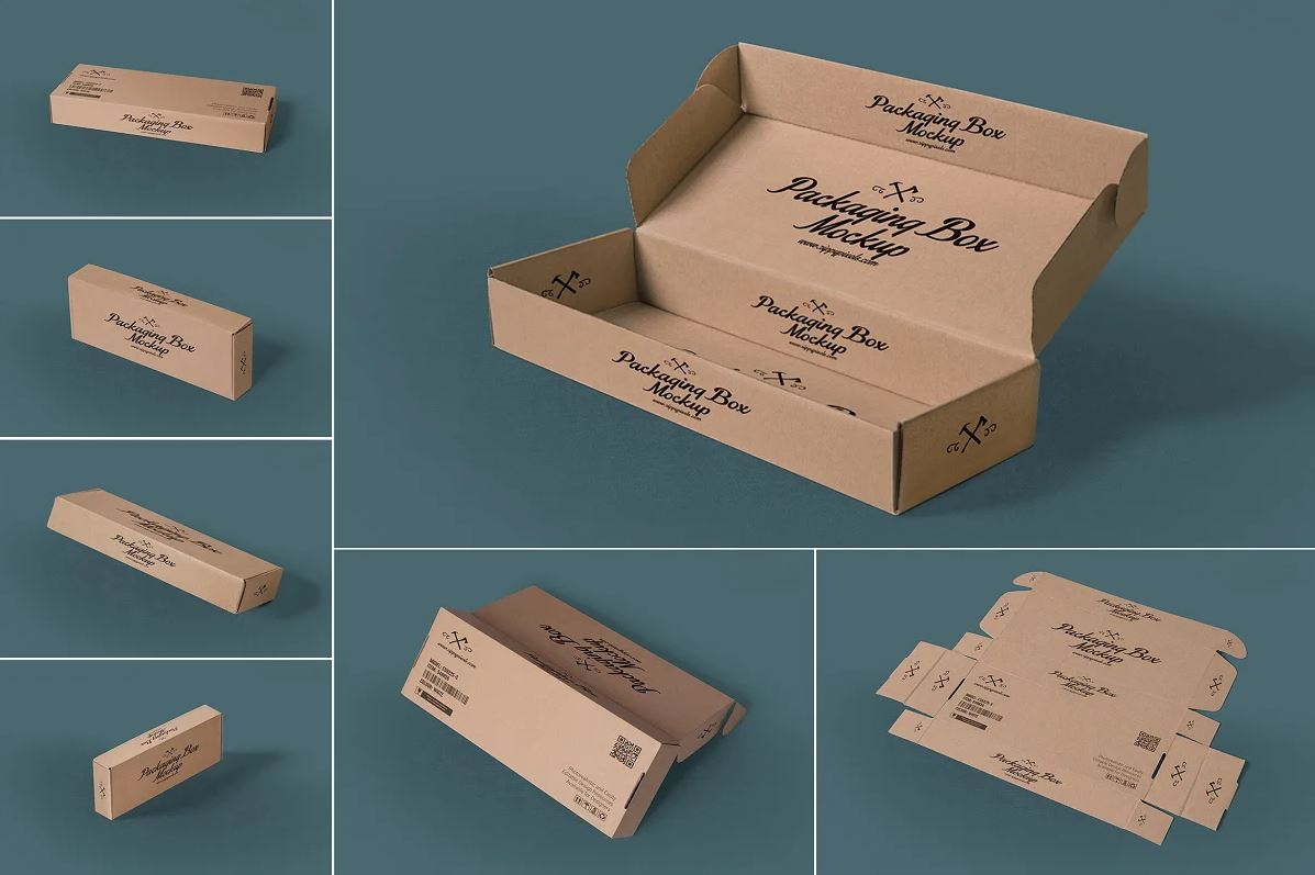 Rectangular Packaging Box Mockups