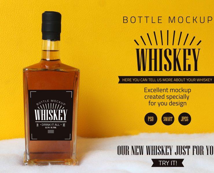 15+ Whisky Bottle Mockup PSD Free Download