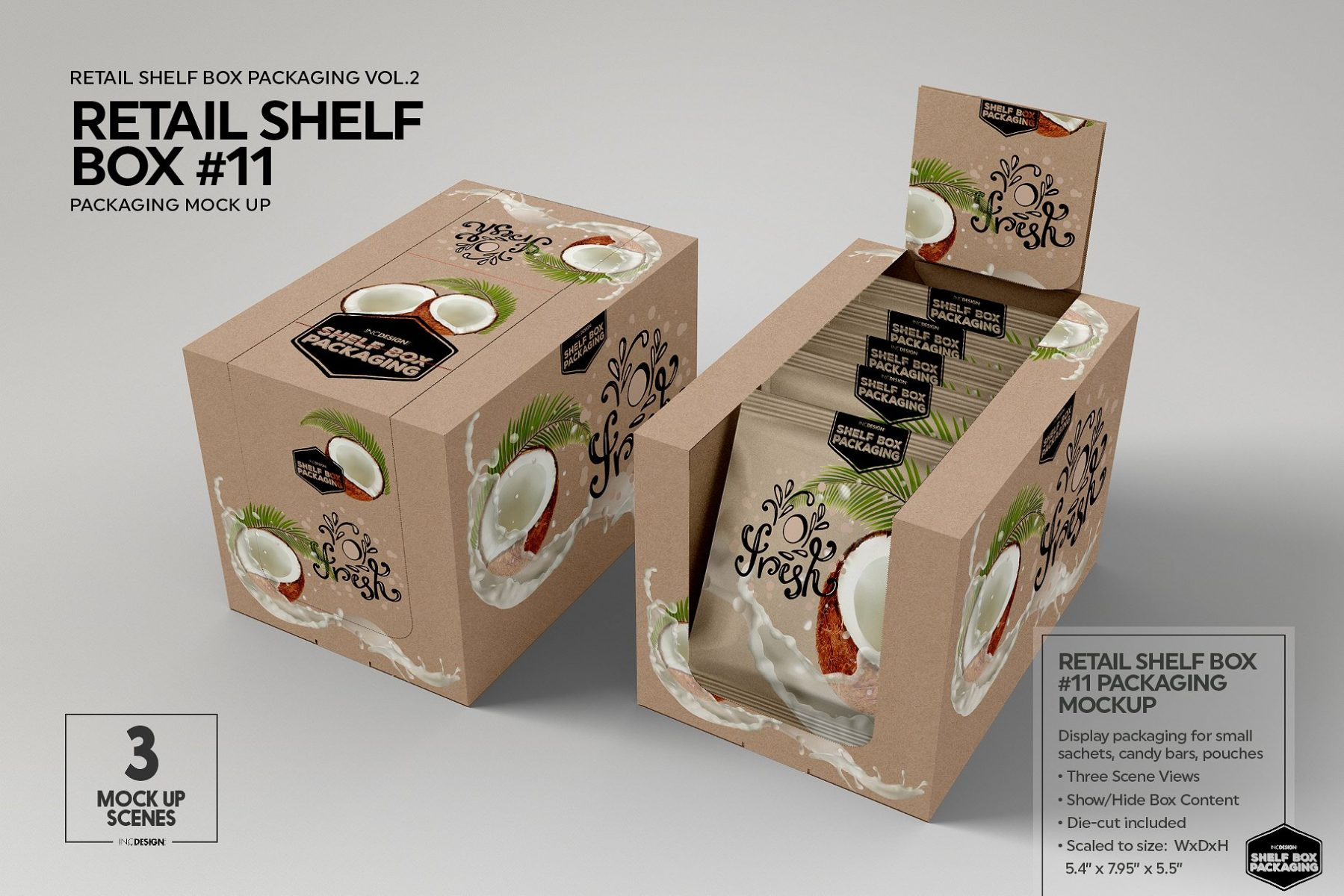 Retail Shelf Box Mockup