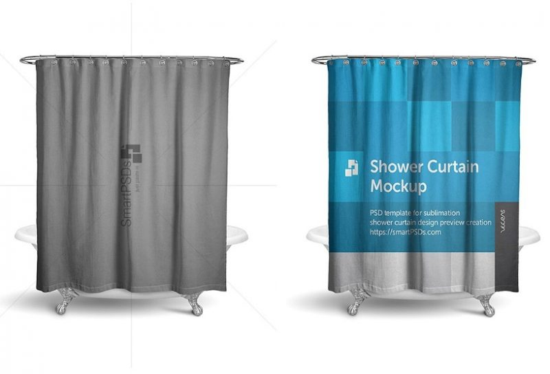 Shower Curtain Mockup PSD