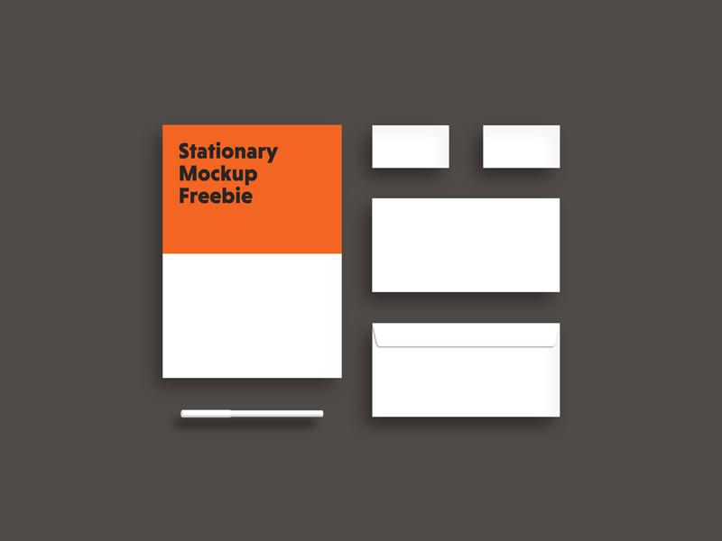 Simple Stationary Mockup PSD Free