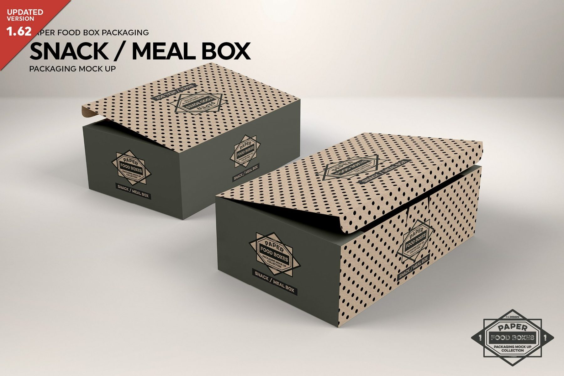 Snack Food Box Mockup PSD