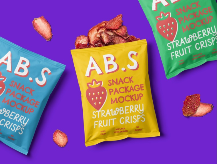 Snack Package Mockup PSD Free