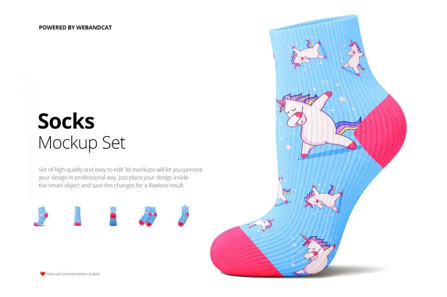 Socks 3d Mockup