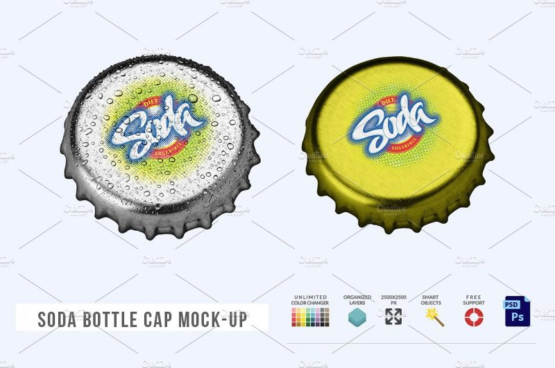 Soda Bottle Cap Mockup