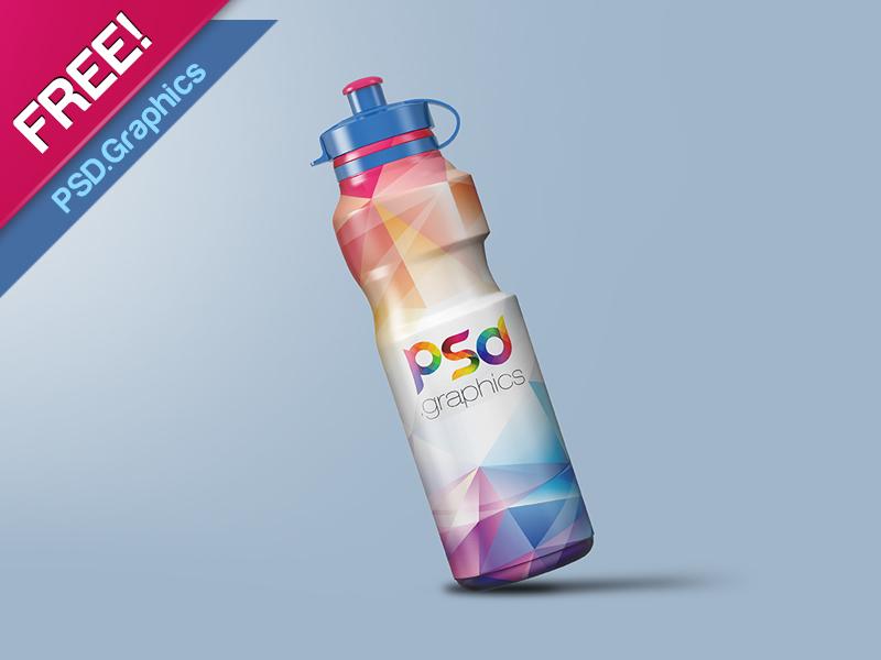Sports Sipper Bottle Mockup PSD