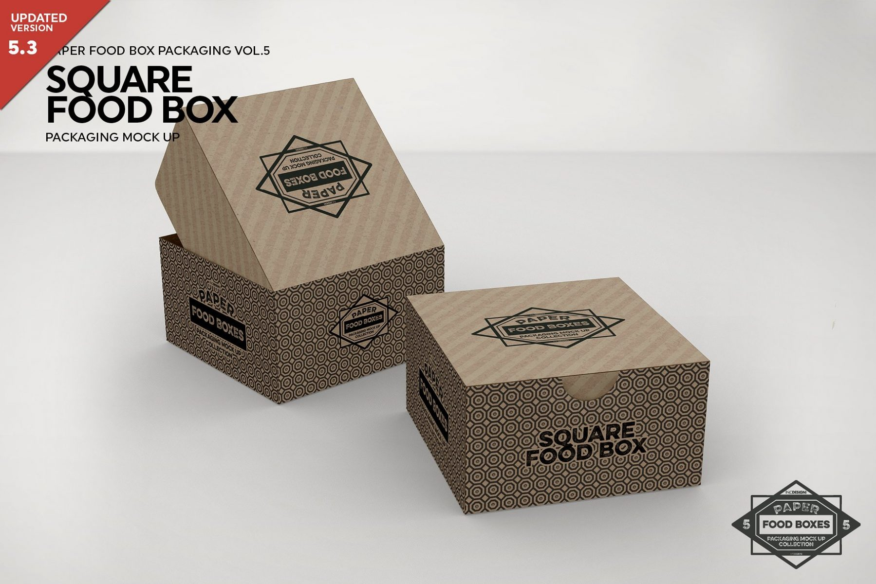 Square Food Box Mockup PSD