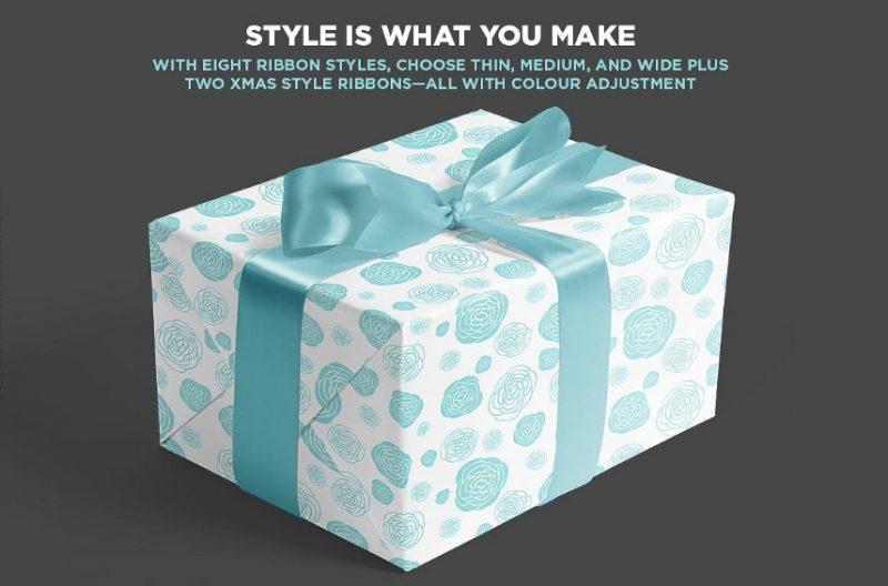 Square Gift Box Mockup
