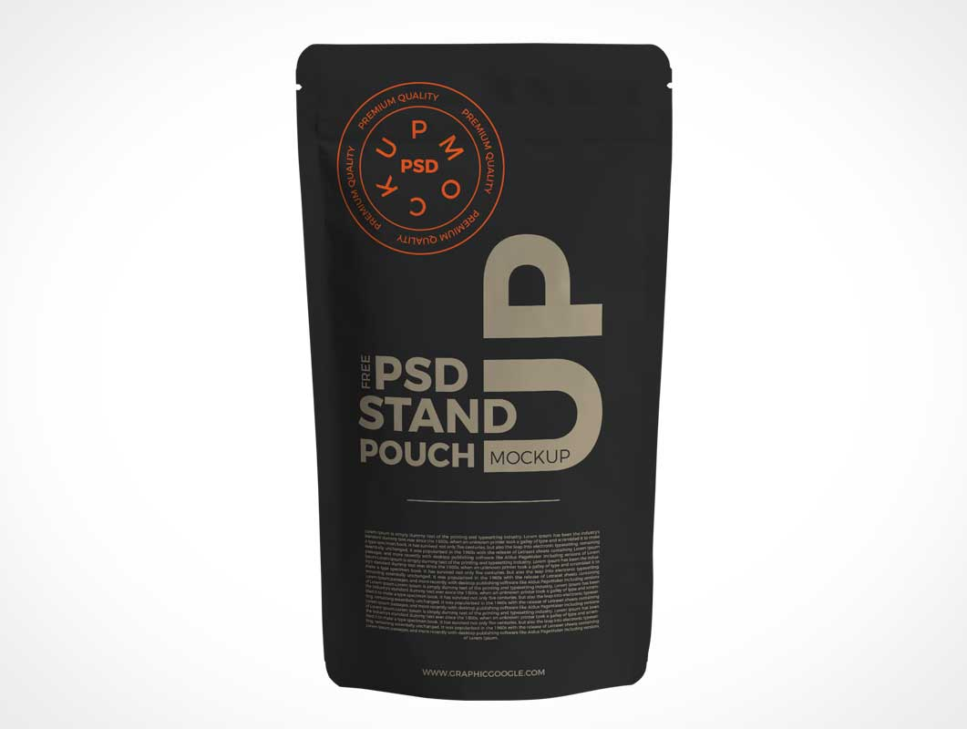 Stand Up Pouch Mockup PSD Free Download